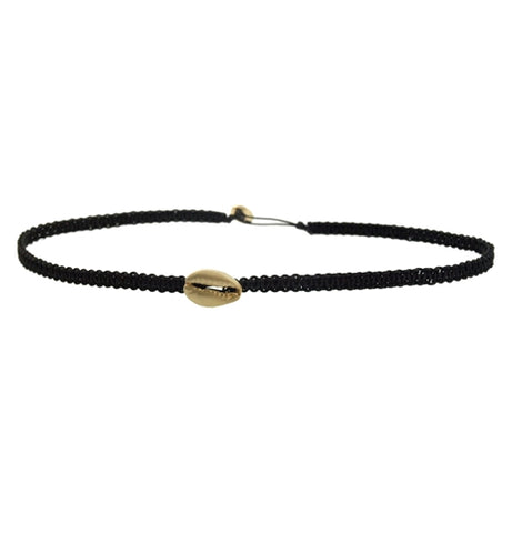 SINGLE SHELL MACRAME CHOKER