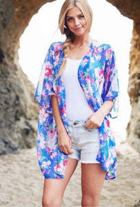 Beach Days Floral Overlay