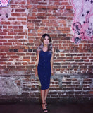 Mia Dress (Navy)