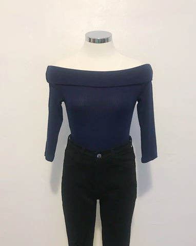 Grace Top (Navy Blue)
