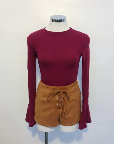 Scarlett Top (Burgundy)