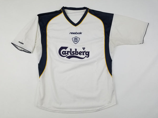the best attitude f2b4a 5c394 2001-03' Reebok Liverpool FC Away Jersey Shirt Men's Large White Kit