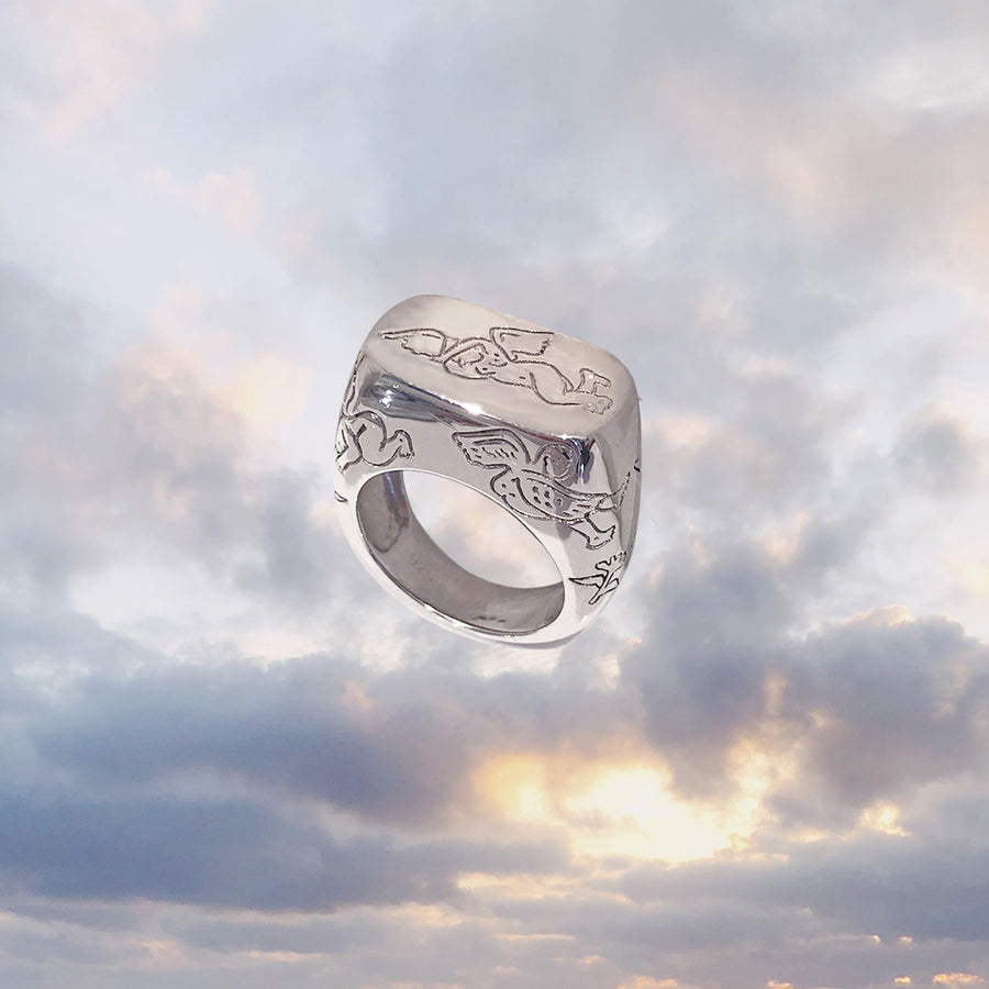 Elevated Cupid Ring