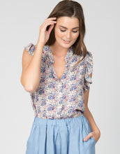 Ditsy Floral Ruffle Sleeve Top - 4our Dreamers