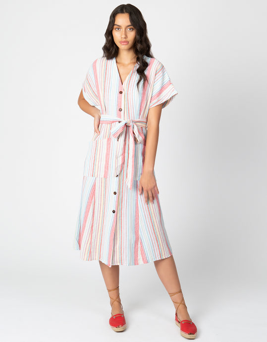 Striped Midi Dress - 4our Dreamers