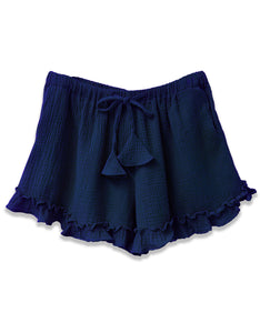 Gauze Drawstring Short | Navy - 4our Dreamers