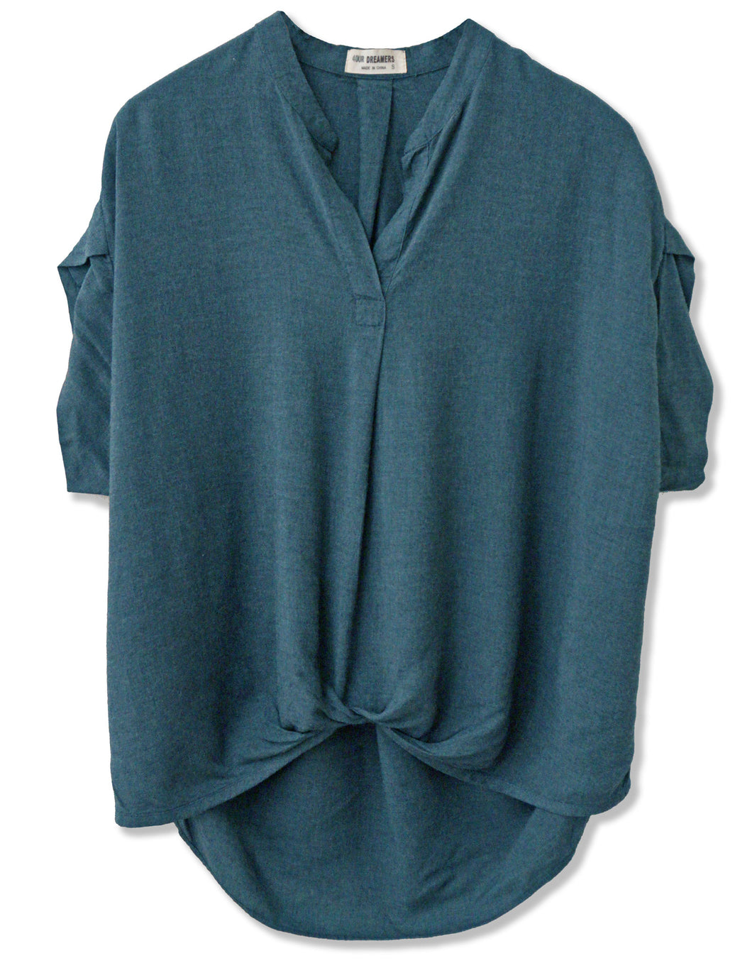 Popover Front Tuck Top | Deep Teal - 4OUR Dreamers