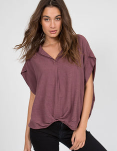 Popover Front Tuck Top | Garnet - 4OUR Dreamers