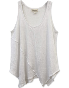 Linen Slub Tank | White | FINAL SALE