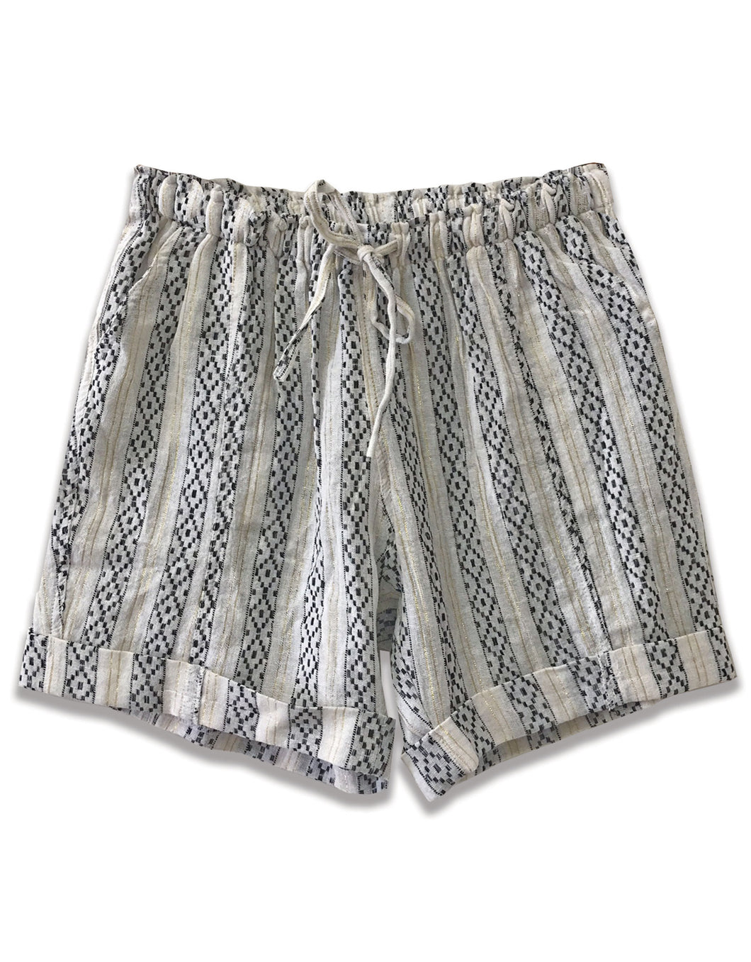 Ikat Print Drawstring Short - 4our Dreamers