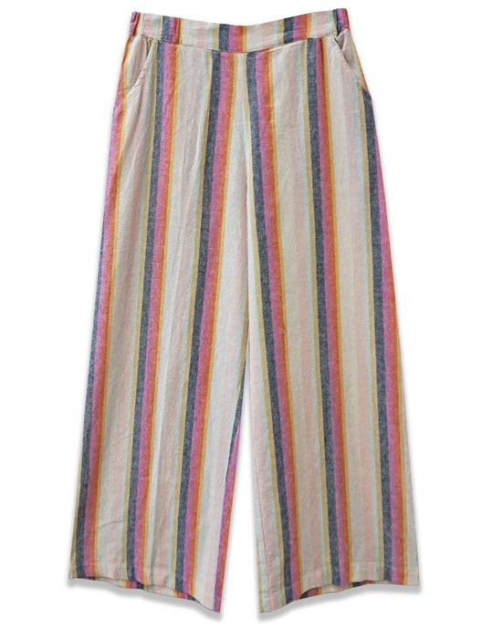 Striped Wide Leg Crop Pant - 4our Dreamers