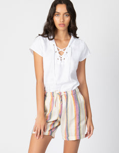 Striped Drawstring Short - 4our Dreamers