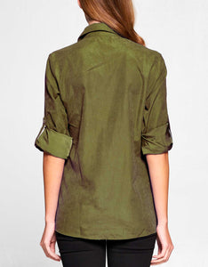 Cupro Button Down Shirt | ARMY