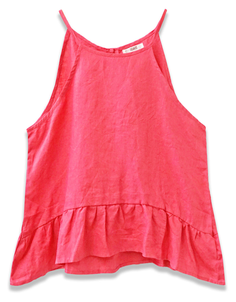 Linen High Neck Tank | Pink - 4our Dreamers