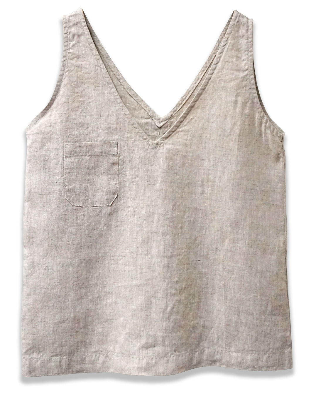 Linen V-Neck Tank | Natural - 4our Dreamers