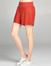 Linen Fold Over Waist Short | Terracotta - 4our Dreamers