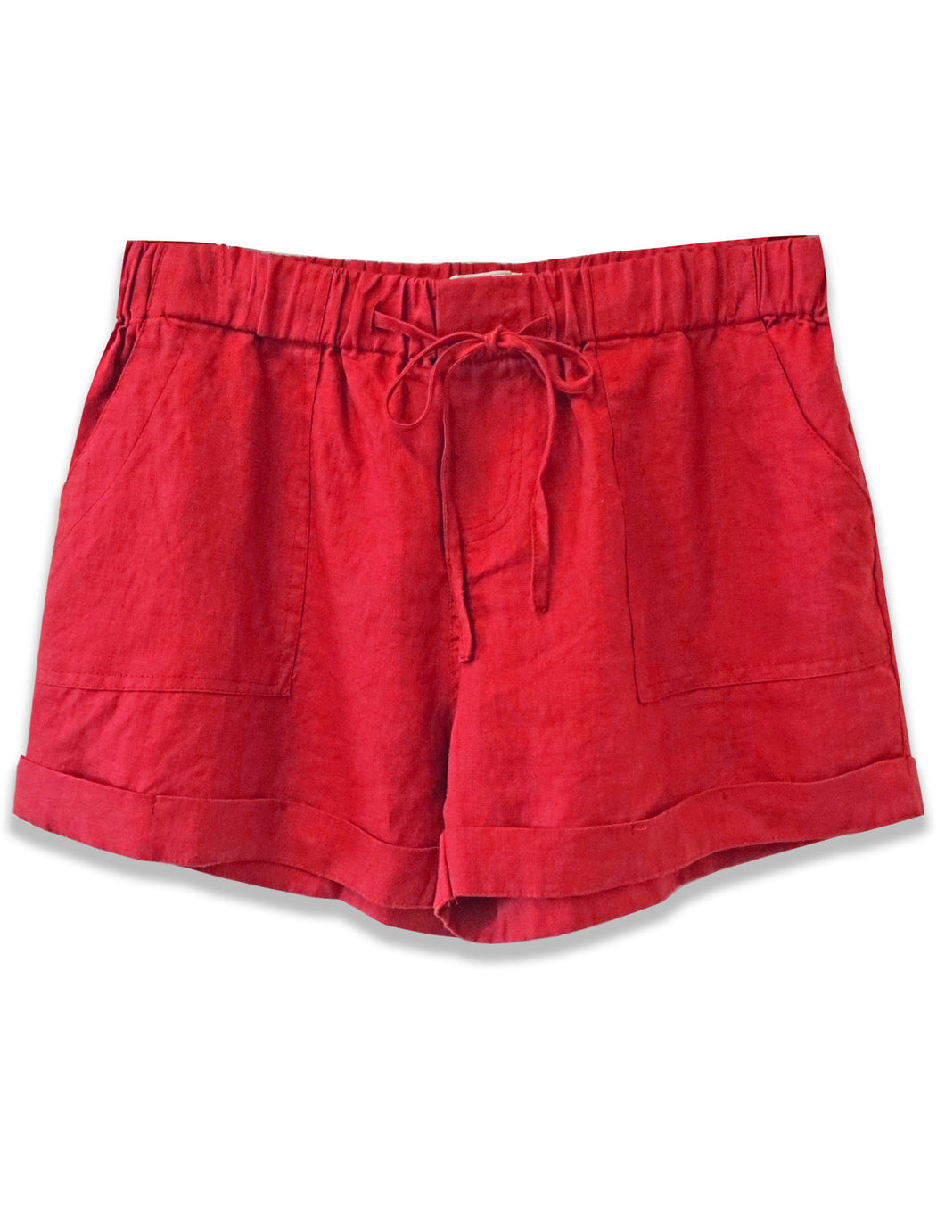 Linen Drawstring Short | Chili - 4our Dreamers
