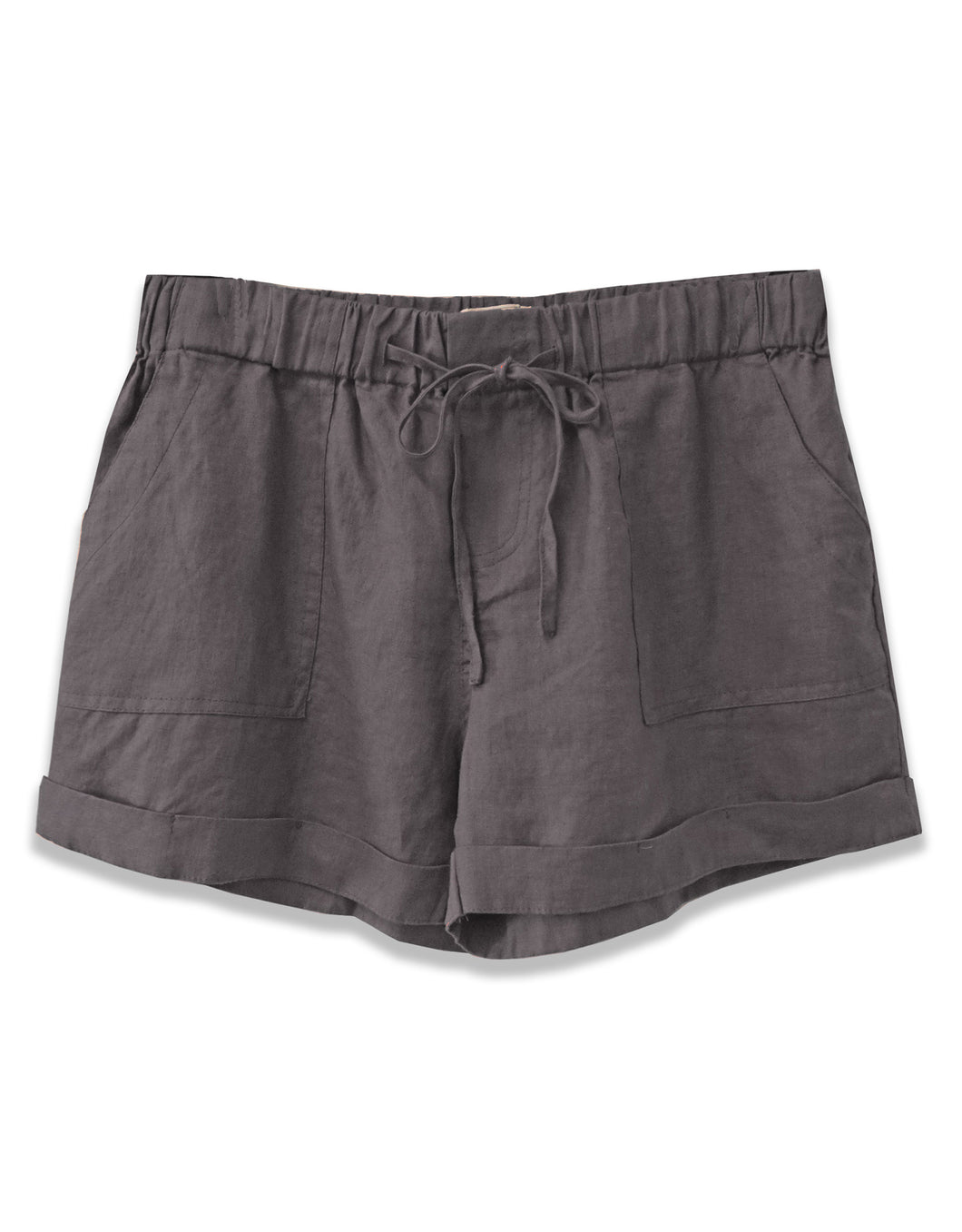 Linen Drawstring Short | Dark Slate