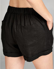 Linen Drawstring Short | Black - 4our Dreamers