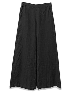 Linen Wide Leg Pant | Black - 4our Dreamers