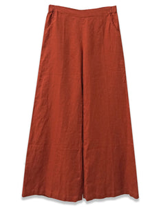 Linen Wide Leg Pant | Terracotta - 4our Dreamers