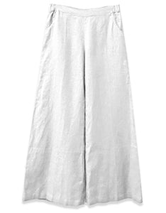 Linen Wide Leg Pant | White - 4our Dreamers