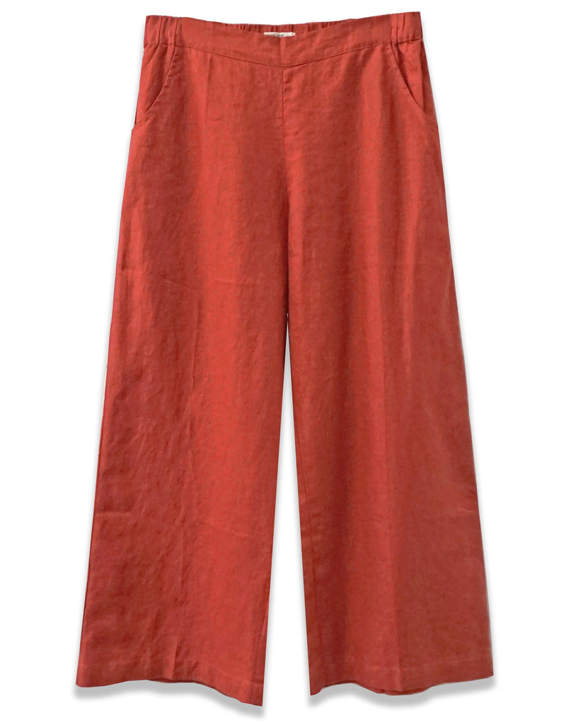 Linen Wide Leg Crop | Terracotta - 4our Dreamers