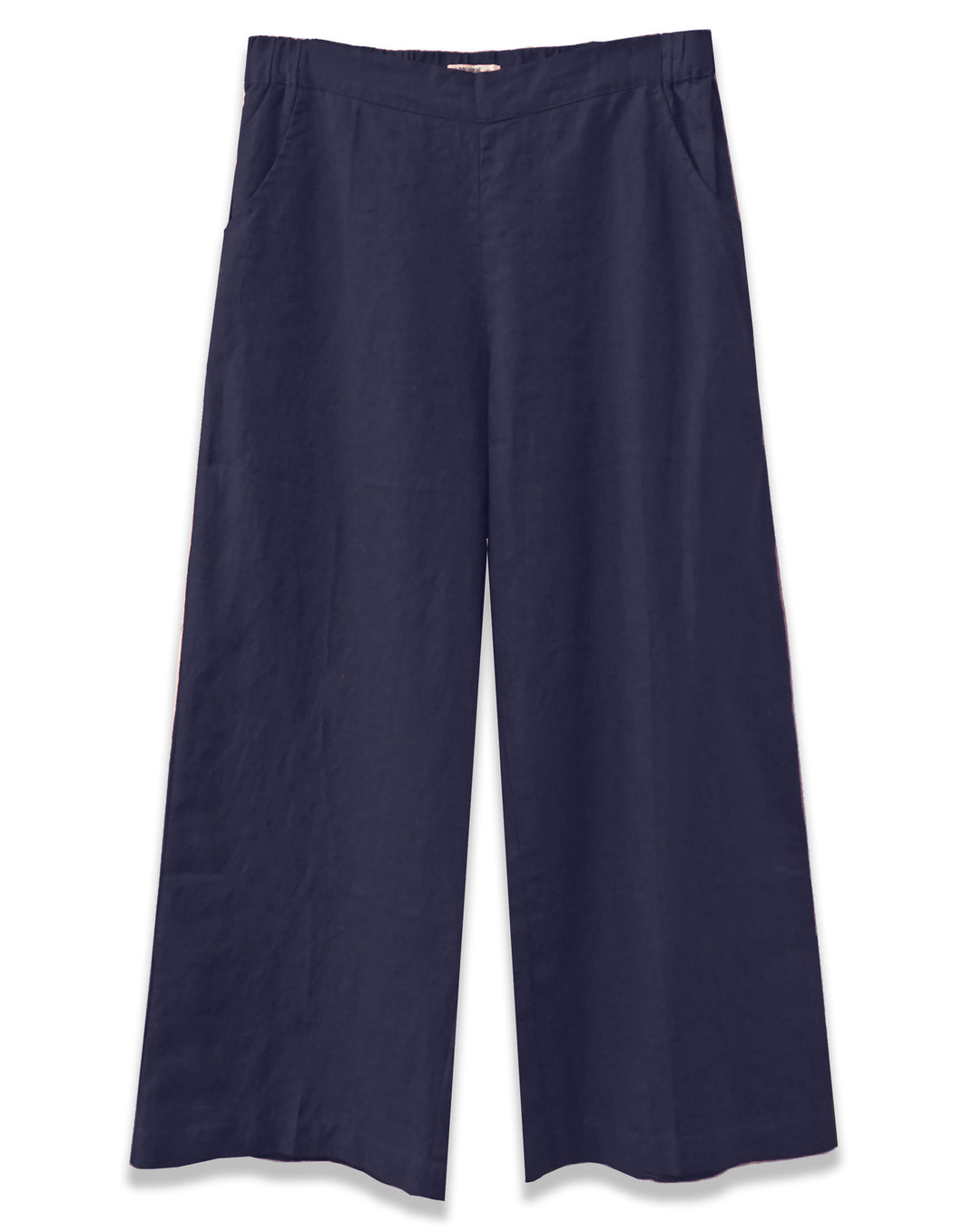 Linen Wide Leg Crop | Navy - 4our Dreamers