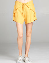 yellow linen short