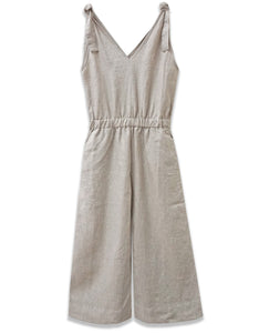 Linen Crop Jumpsuit | Natural | 4OUR Dreamers