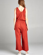 Linen Crop Jumpsuit | Terracotta