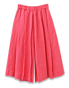 Linen Pleated Culotte Crop | Pink - 4our Dreamers