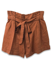 Linen Paperbag Waist Short | Clay | 4OUR Dreamers