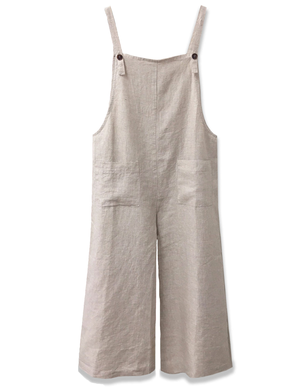 Linen overall in natural