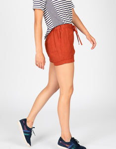 Linen Drawstring Long Short | Sienna