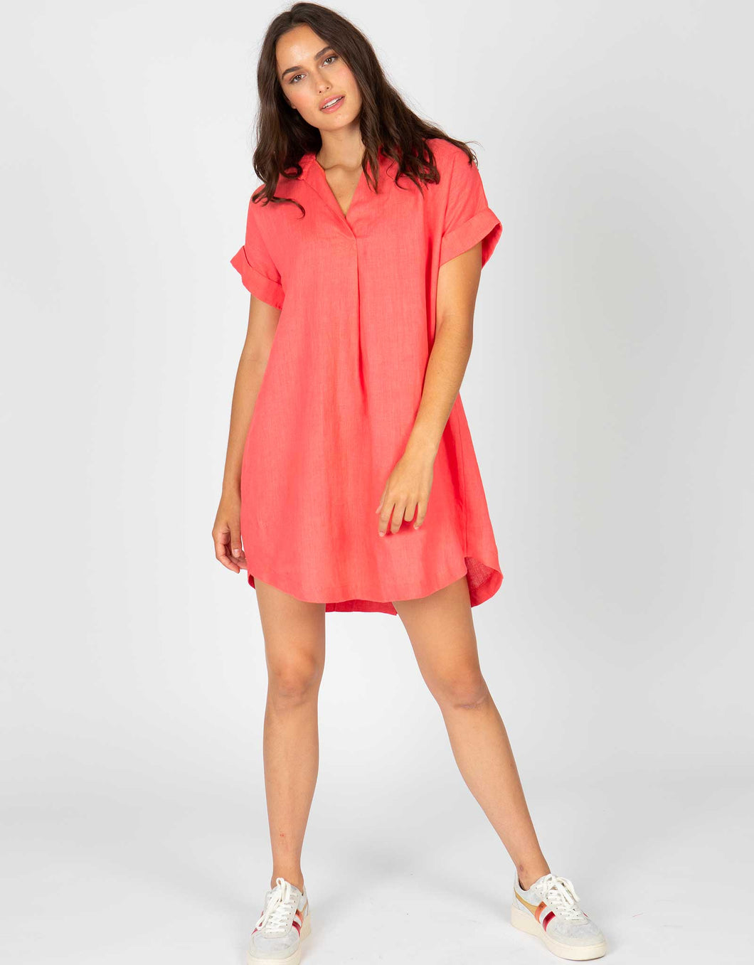 Short Sleeve Popover Dress | Rouge