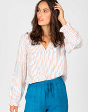 Striped Long Sleeve Blouse | Ivory