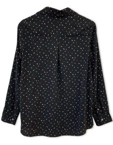 Arrow Print Long Sleeve Top | Black - 4OUR Dreamers