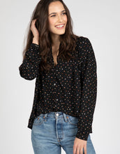 Arrow Print Flowy Top | Black - 4OUR Dreamers