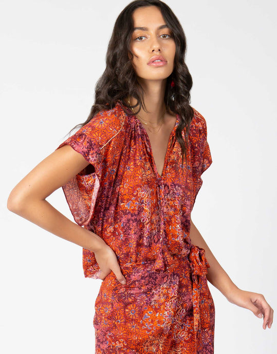 Floral Print Peasant Top - 4our Dreamers