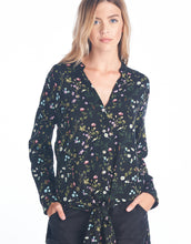 Tie Front Floral Tunic