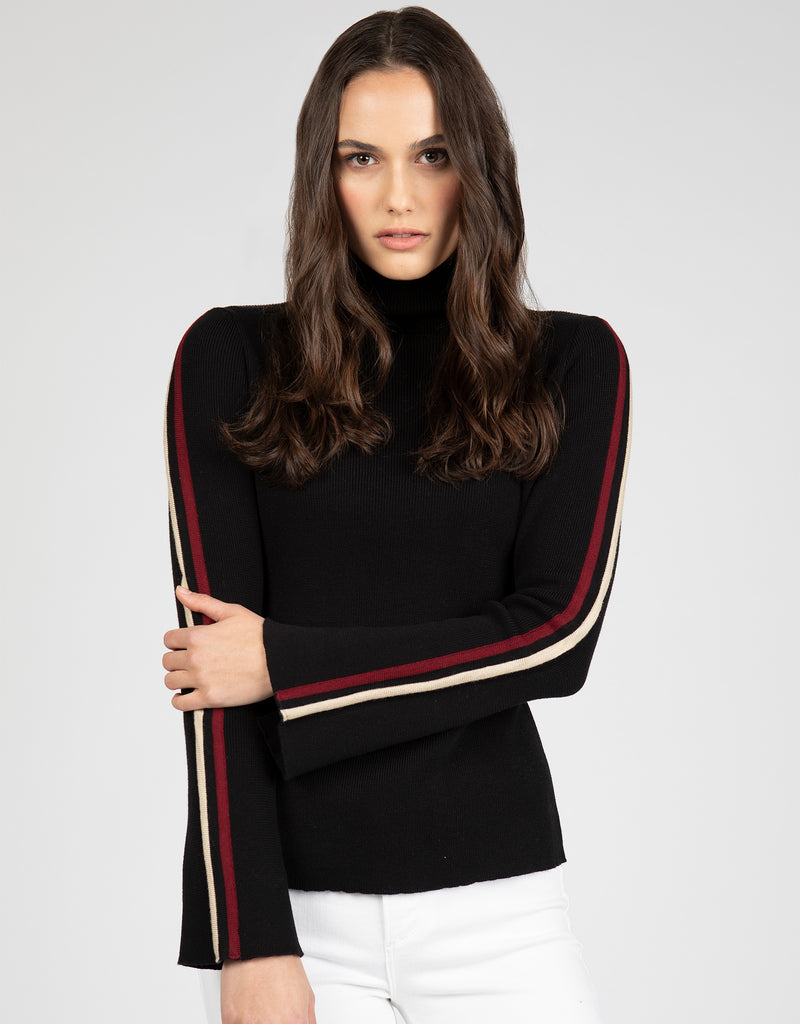 Mock Turtle Neck Sweater | Black - 4OUR Dreamers