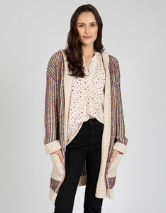 Hooded Open Knit Cardigan - 4OUR Dreamers