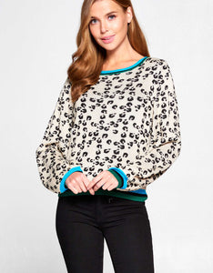 Cheetah Jacquard Knit Sweater