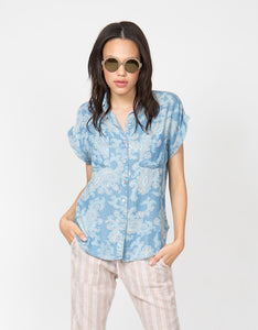 Paisley Tencel Denim Shirt