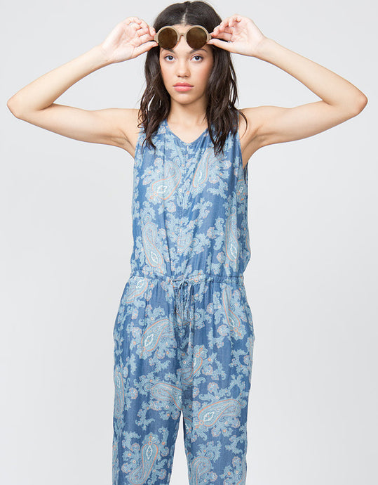 Paisley Tencel Denim Jumpsuit  FINAL SALE - 4our Dreamers
