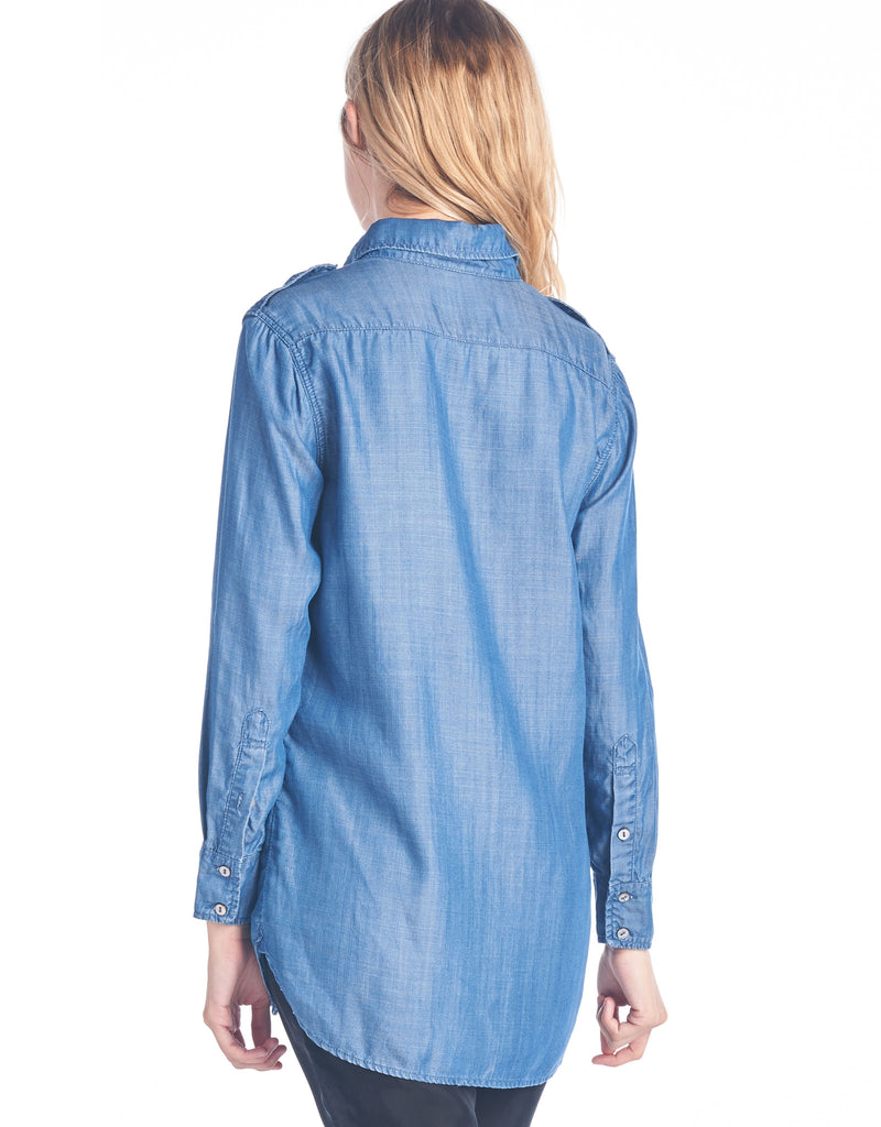 Tencel Denim Shirt | Dark Wash - 4OUR Dreamers