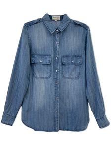 Tencel Denim Shirt | Medium Stone Wash - 4OUR Dreamers