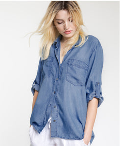 Tencel Denim Button Down Shirt - 4our Dreamers