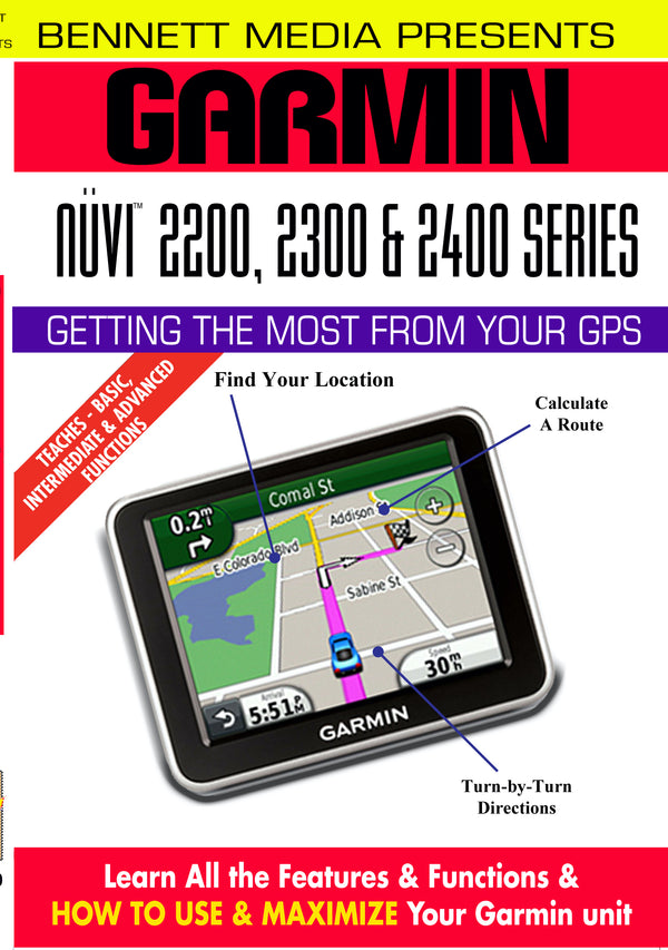 Garmin Nuvi 2200, 2300 & 2400 Series (DVD)